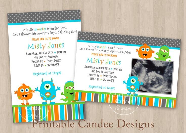 monsters inc baby shower little monster baby shower invitation