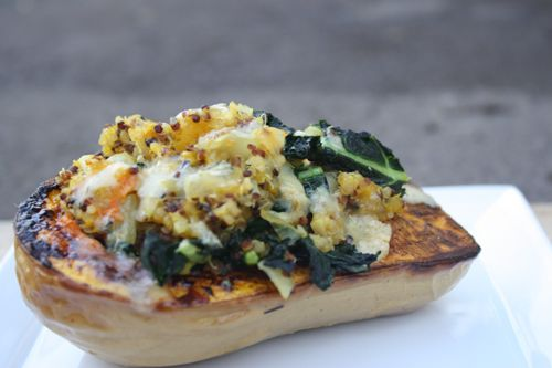 twice baked butternut squash with kale and quinoa | Dishing Up the ...