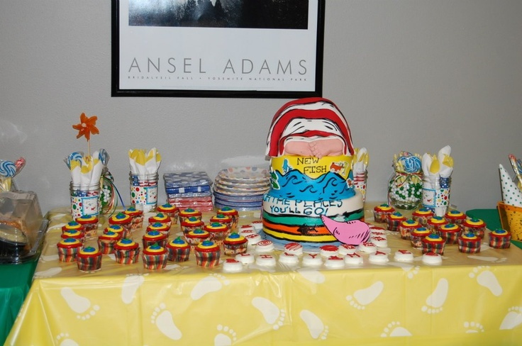 Dr. Seuss Baby Shower - dessert table