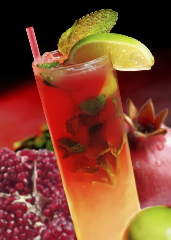 pomegranate mojito recipe | Drinks | Pinterest