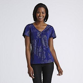 Jaclyn Smith Women's Paisley Top - Clothing - Women's - Tops