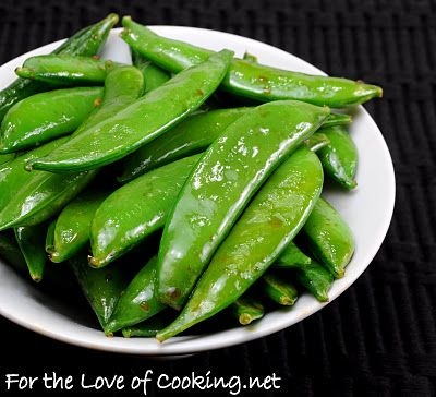 soy sesame sugar snap peas - works for whole edamame too! (saute w/1 ...