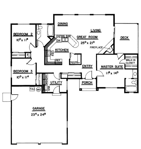 Ranch southwest house plan 99710 for Southwest house floor plans
