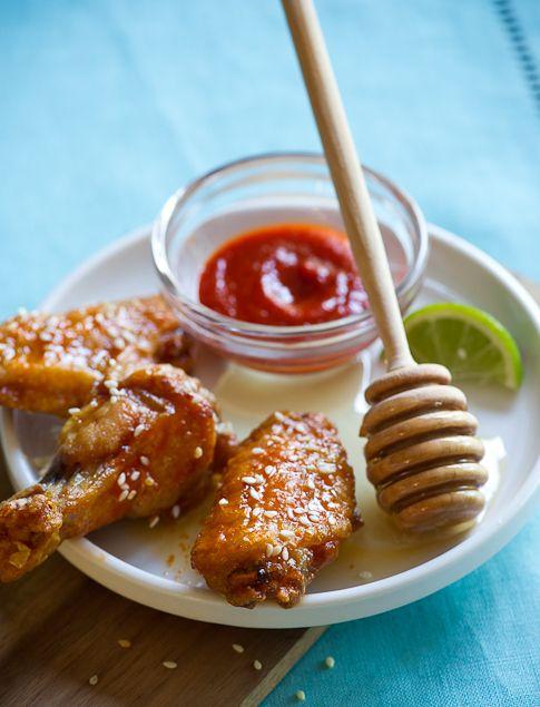 Honey-Sriracha Glazed Buffalo Wings | Appetizers & Snacks | Pinterest