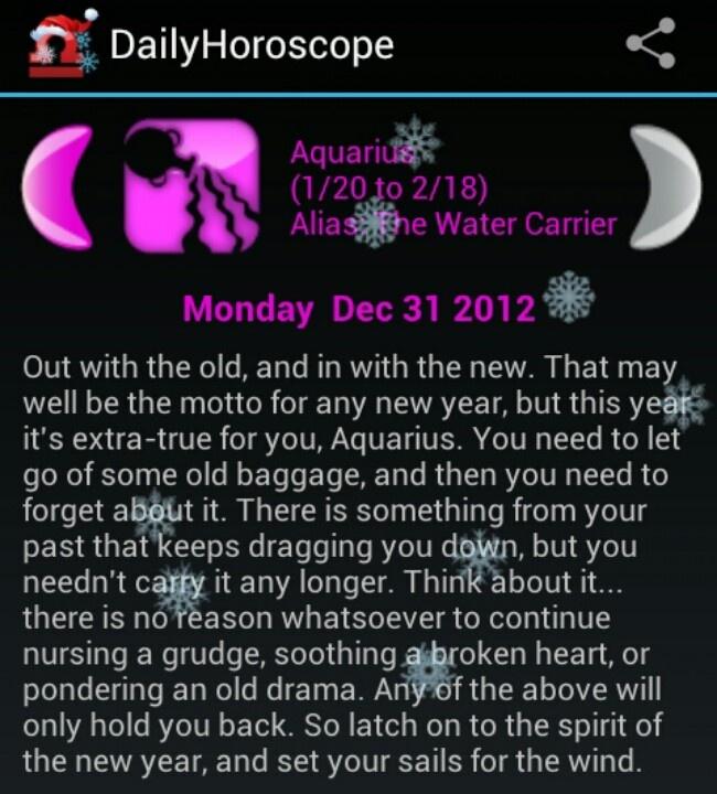 Daily aquarius horoscope twitter