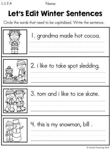 1st Grade Sentence Correction Worksheets 9513890 Es Youlandfo