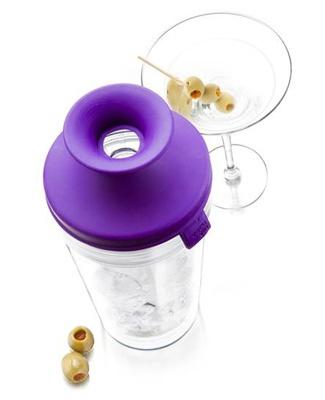 Pop Cocktail Shaker (12-oz.): Purple by Vacu Vin at Epicurious Shop