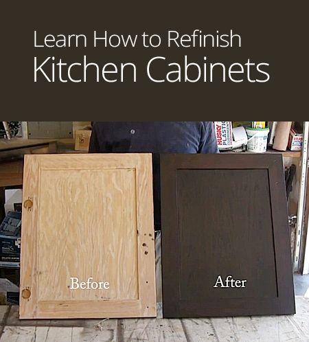How to refinish kitchen cabinets diy pinterest for How to repaint cabinets