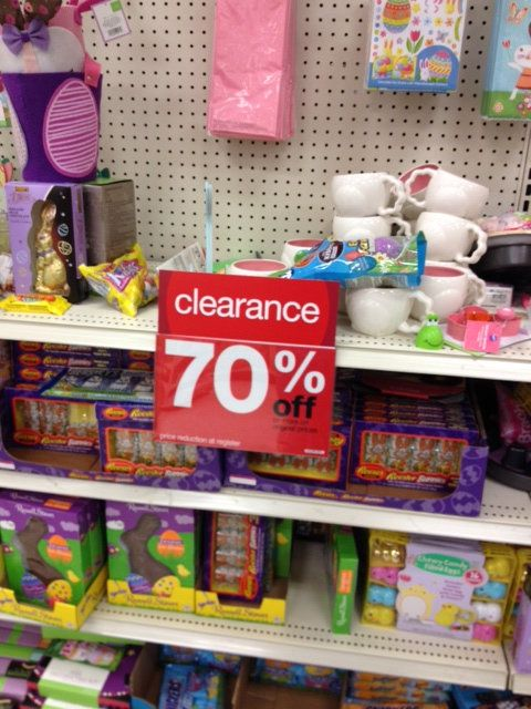 Target Easter clearance is 70% off-