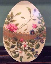 10 Vintage Die Cut Easter Cards, Lovely Decorated Easter Egg,