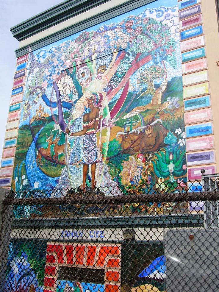 Bernal heights elementary school mural murals pinterest for Elementary school mural