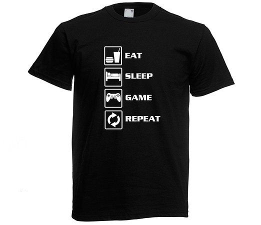 Eat Sleep Game Repeat 2 T-shirt Consoles Xbox one Ps4 Funny Birthday Present Gift KIDS TO ADULTS Sizes - ebuypress: Amazon.co.uk: Clothing