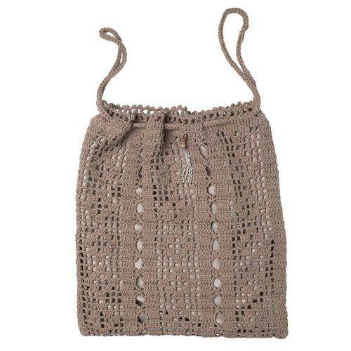 Crochet Laundry Bag : Lisbeth Dahl Powder Crochet Laundry Bag with Sateen Lining by Lisbeth ...