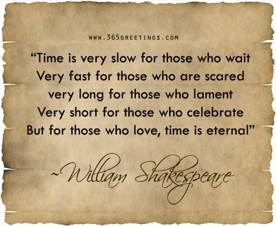 Time is eternal for those who love ....