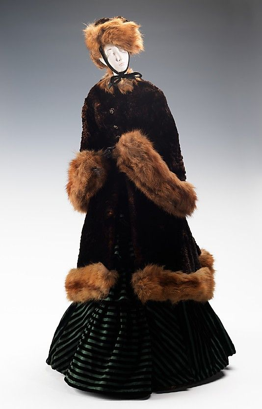 1874 Doll by Jungmann (metal, plaster, hair, fur, silk), 1949. MMA