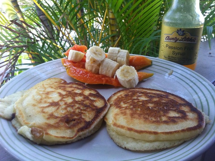 ... Aunty Lilikoi's Passion Fruit Syrup and some tasty coconut pancakes
