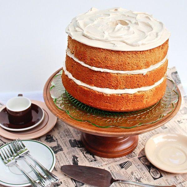 Espresso Chiffon Cake With Fudge Frosting Recipe — Dishmaps