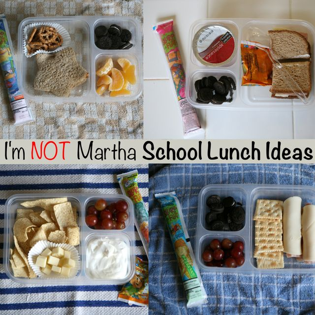 Easy realistic school lunch ideas! I like the realistic part of this