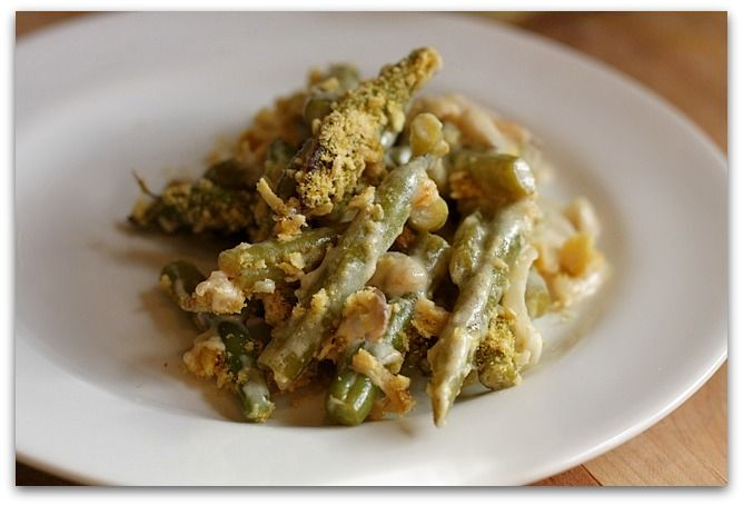 Green Bean Casserole * crushed potato chips instead of fried onions or ...