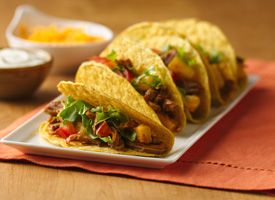 Slow Cooker Pineapple-Pork Tacos from Tablespoon. http://punchfork.com ...