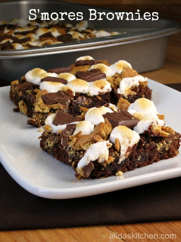 mores Brownies - easy recipe to transform basic brownies into a s ...