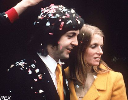 """She'd been married before, so she wasn't keen to get married again. She was unsure, but I persuaded her. I said, 'It'll be all right this time.'""-Paul McCartney"