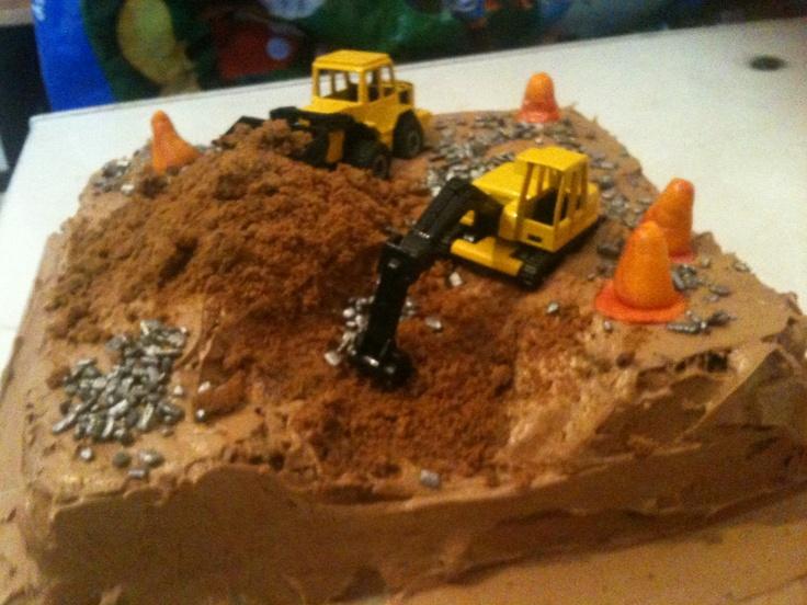 how to make a construction cake