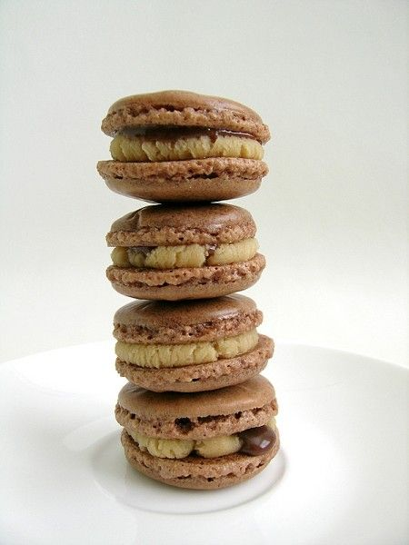 chocolate peanut-butter french macaron | French Macaron Board! | Pint ...