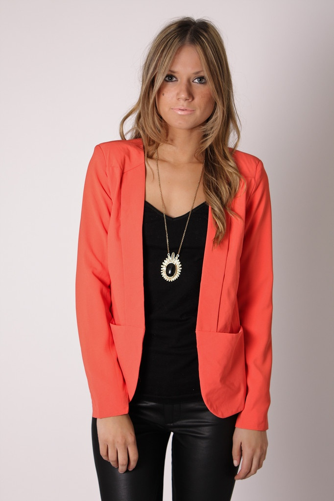 decision coral blazer