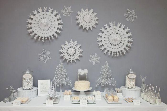 Una mesa blanca idónea para una fiesta de Navidad o una fiesta nieve / A lovely white table for a Christmas or a snow party