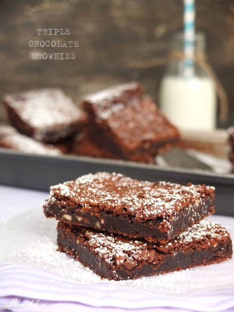 Triple chocolate brownies | I LOVE Brownies | Pinterest