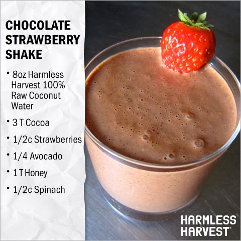 ... amp organic coconut water cocoa strawberries avocado honey amp spinach