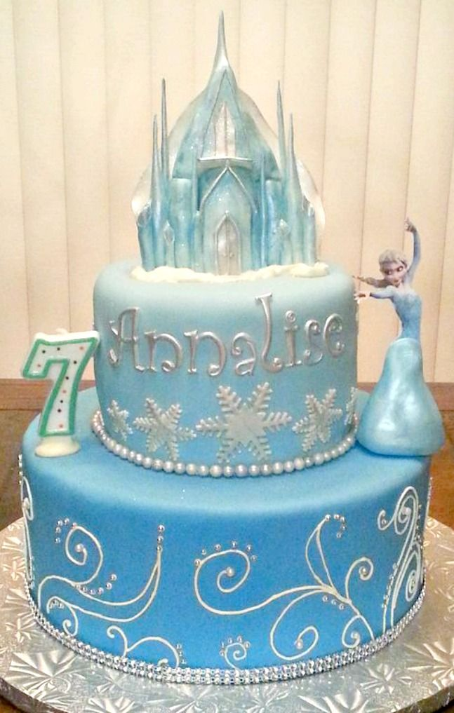 Disney Frozen Cake-this will probably be my daughters cake for bday #6
