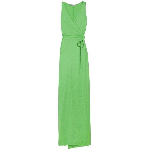 Diane von Furstenberg Yazhi silk-blend maxi dress found on Polyvore