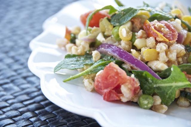 Late summer farro salad | Summer Food. | Pinterest