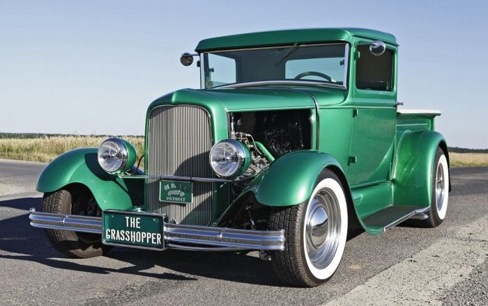 Alexander brothers grasshopper 1931 ford pickup to cross for Bayer ford motor company