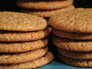 Sesame Benne Wafers- crunchy sweet sesame cookies