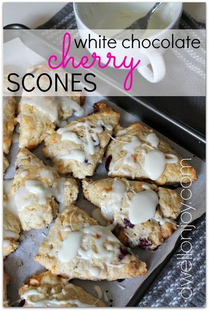 Dwell on Joy: White Chocolate Cherry Scones