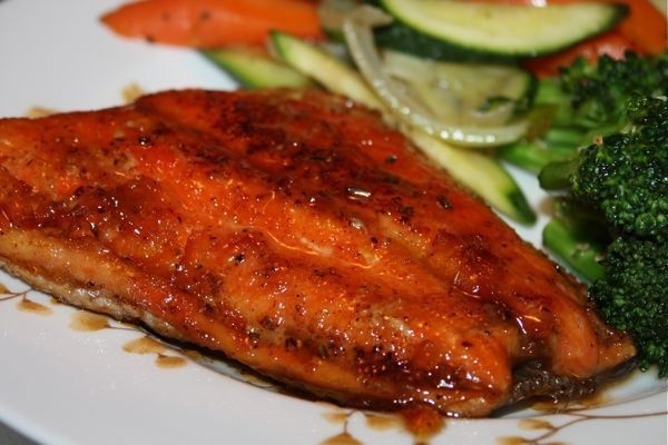 Orange Glazed Salmon I see this with dilled new potatoes, steamed ...