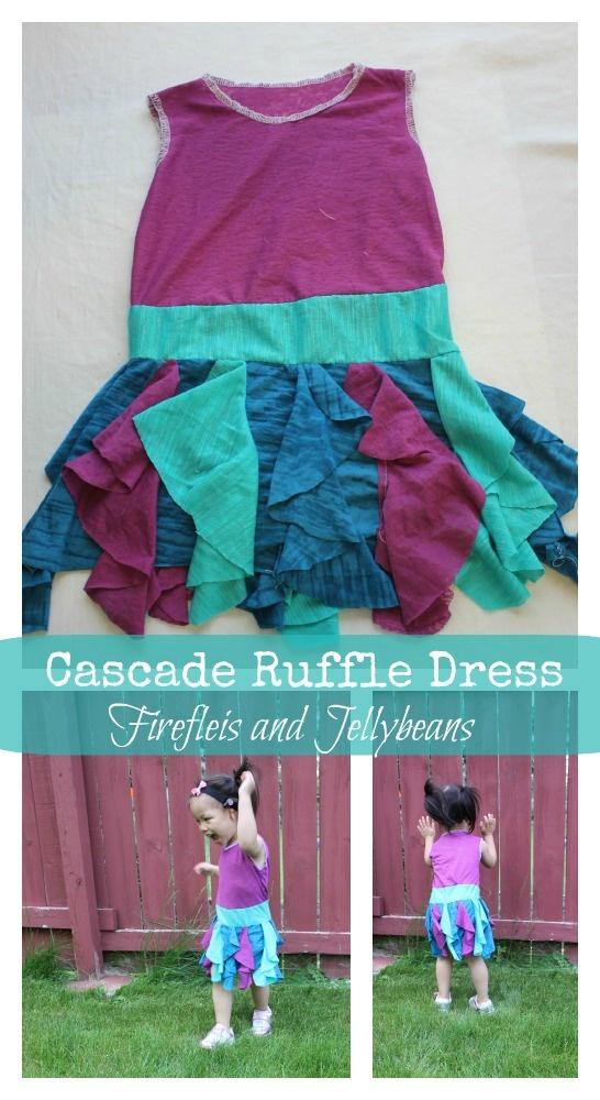 Fireflies and Jellybeans: Cascade Ruffle Dress (Tutorial!)