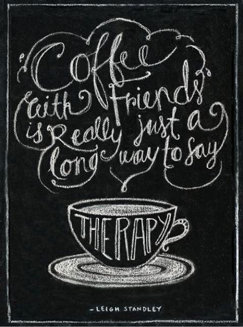 coffee and friends    ...