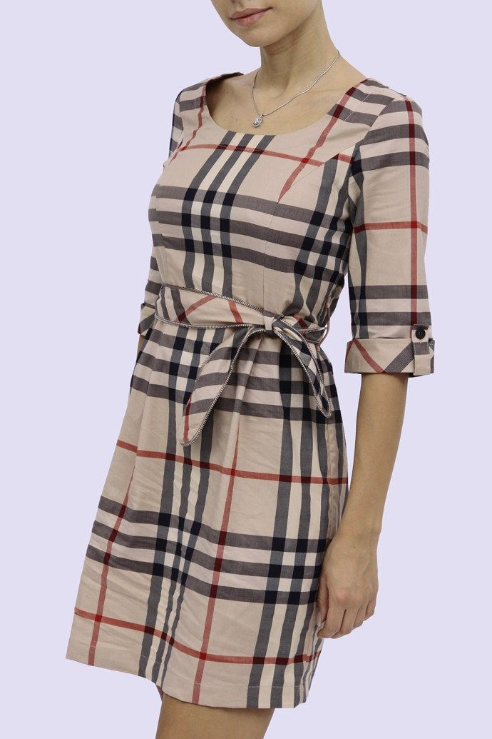 Burberry women dresses with simple pictures for Ladies brown check shirt