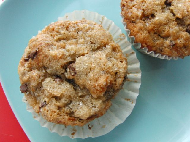 Ultimate Banana Chocolate Chip Muffins without the chocolate chips ...