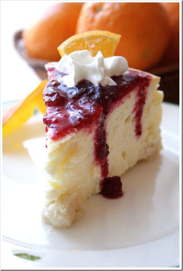 cranberry orange cheesecake | Recipes: Cheesecake | Pinterest