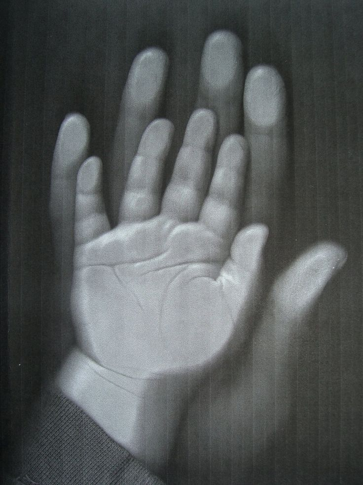 Photocopy hands instead of inky smears and fists full of paint.