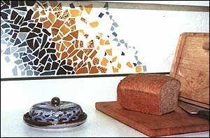 my backsplash with broken ceramic tiles i want to create