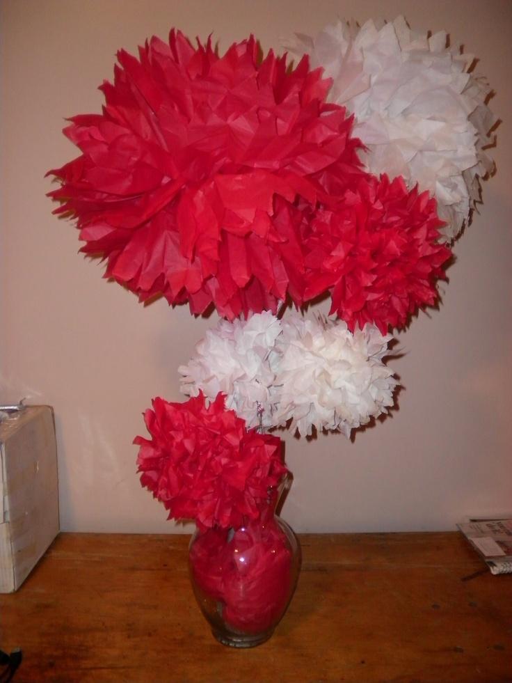 Paper flower centerpiece centerpieces pinterest