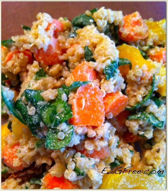 Sesame, veggie & quinoa salad | Repins | Pinterest
