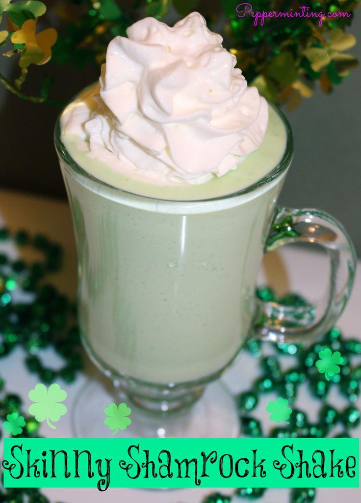 Skinny Shamrock Shake | Delicious Flavor | Pinterest