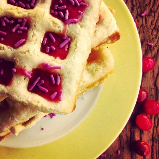 Sugar Cookie Waffles with a Berry Glaze | Gluten Free | Pinterest